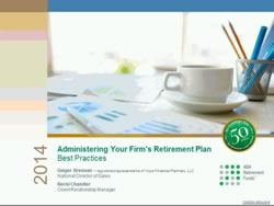 Administering Your Firm's Retirement Plan Best Practices